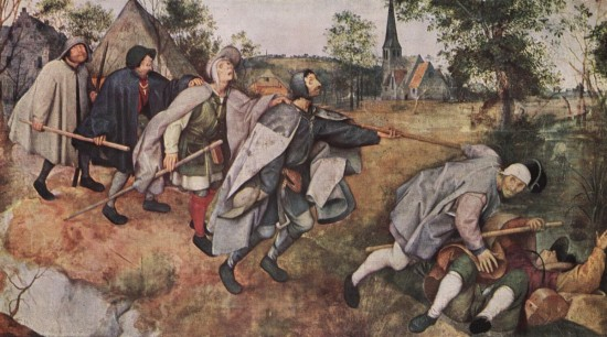 """The blind leading the blind"" (Mt.15:14) by Pieter Bruegel"