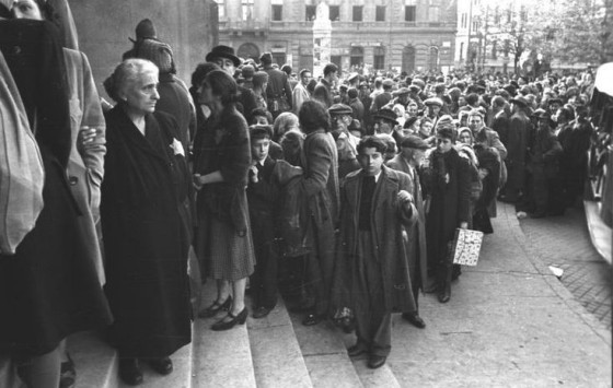 Budapest, Hungary, Oct 1944: Jews being deported by German troops