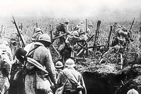 French troops before Verdun,1916