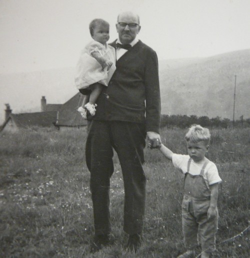 Leonard, myself and sister around 1965