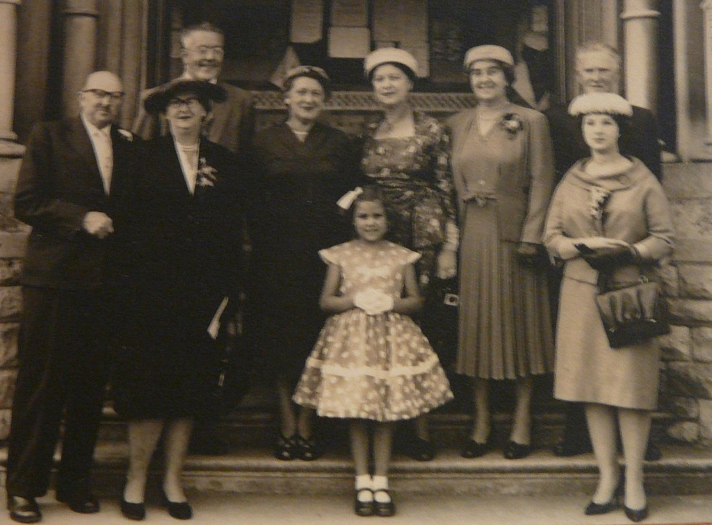 Family photograph with Leonard and wife Priscilla on the left, and younger daughter Erika (my mother) on right